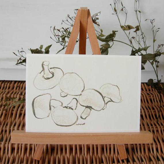postcard / white mushroom