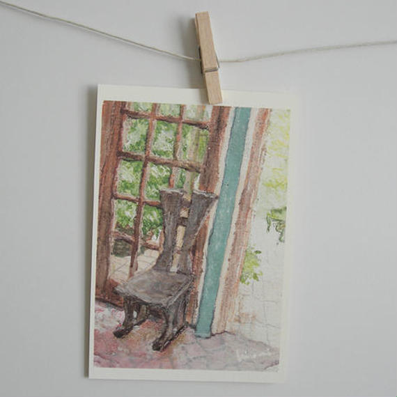 postcard / 木の椅子