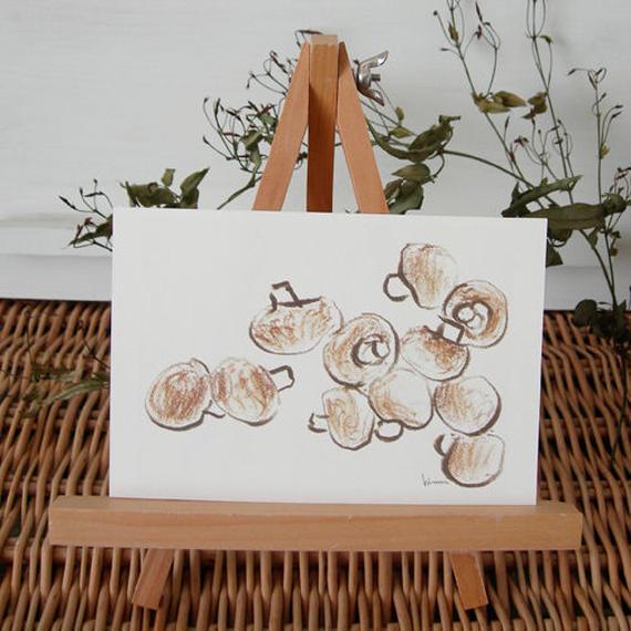 postcard / brown mushroom