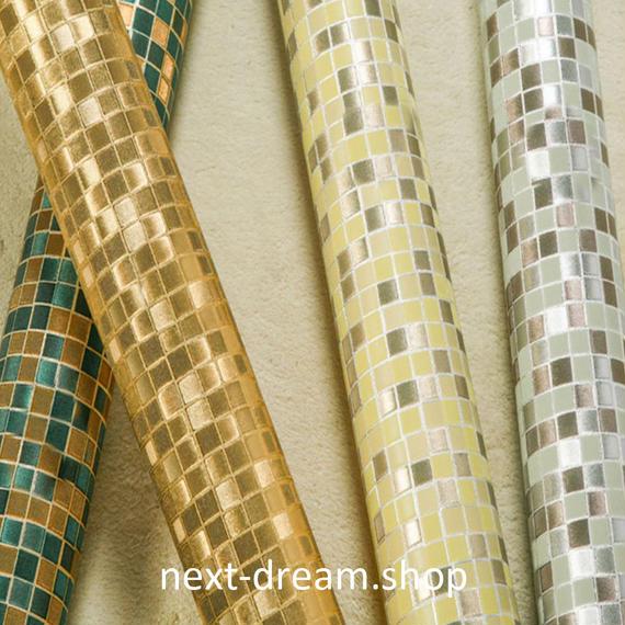 3D 壁紙 53×1000㎝ タイル モザイク PVC 防水 カビ対策 おしゃれクロス インテリア 装飾 寝室 リビング h01823