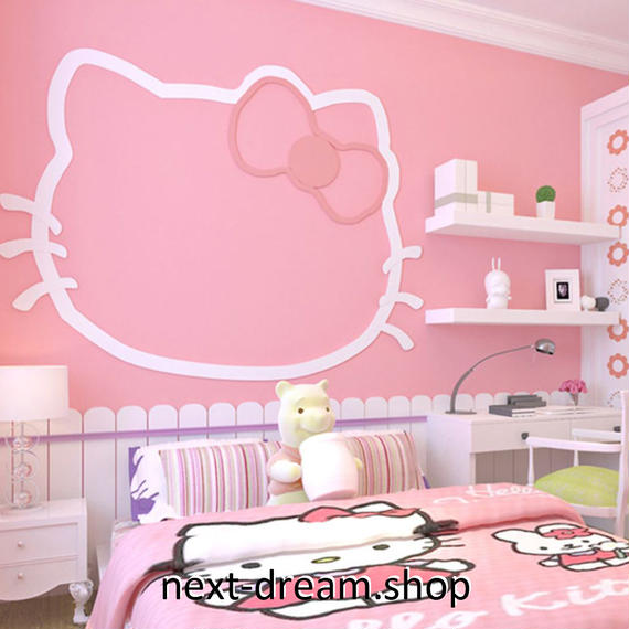 3D 壁紙 53×1000㎝ 子供部屋 猫 キャラ DIY 不織布 カビ対策 防湿 防水 吸音 インテリア 寝室 リビング h02097