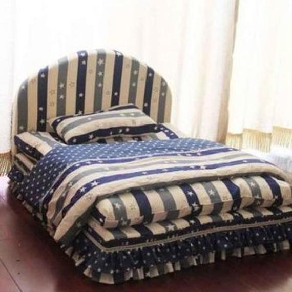 子犬 子猫 長く使えるオシャレなベット 洗えるベッドハウス プレゼント・ギフトなどに (ペットベッド+枕+毛布) 00283