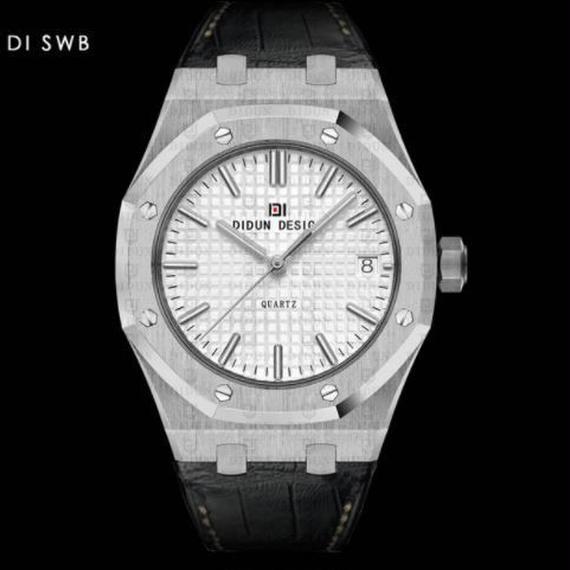 Didun 高級腕時計 クォーツ 耐衝撃 30メートル防水 レザーバンド 希少品 DI SWB 00120