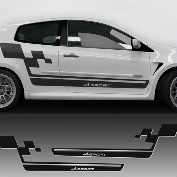 ルノー クリオ ステッカー サイド スカート レーシング Clio R.S h00177