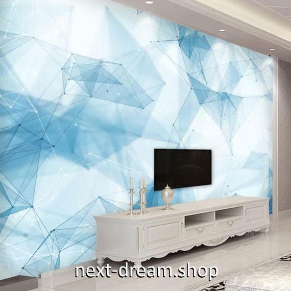 3D 壁紙 1ピース 1㎡ 北欧モダン アート 結晶 DIY リフォーム インテリア 部屋 寝室 防湿 防音 h03265