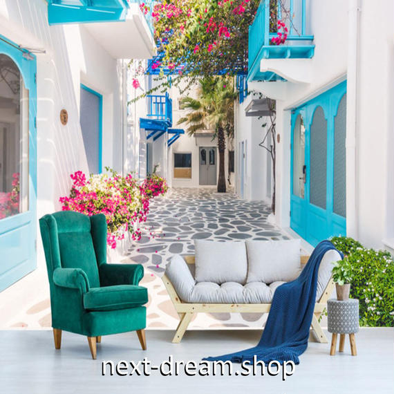 3D 壁紙 1ピース 1㎡ シティ風景 ヨーロッパ 白い壁 DIY リフォーム インテリア 部屋 寝室 防湿 防音 h03336