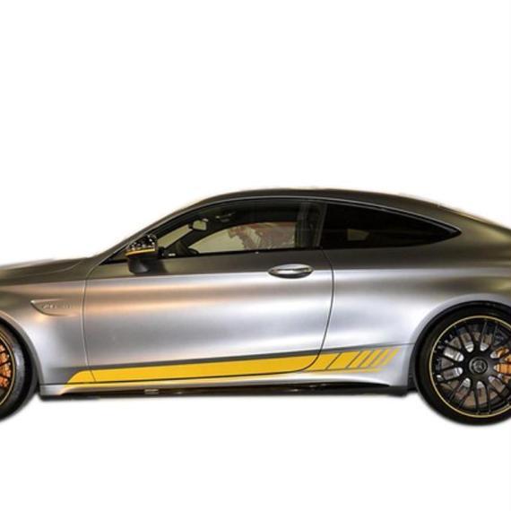 メルセデスベンツ ステッカー AMG Edition 1 C200 C250 C300 C63 クーペ W205 ドア スカート デカール h00110