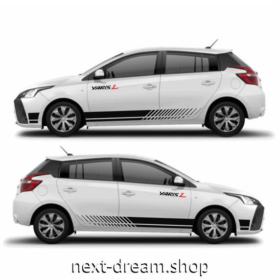 ステッカー 車 デカール TOYOTA トヨタ 2013-2018 yaris 外装 サイド ボディ 自動車 カーアクセサリー m02042