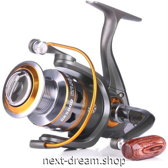新品 スピニングリール 釣り道具 フィッシング 高性能ベアリング 鯉釣り グレー×ゴールド 3000 / 4000 / 5000 / 6000番 m02007