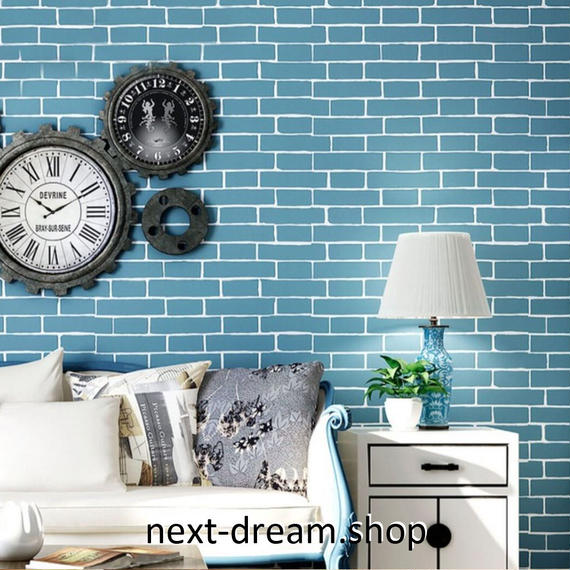 3D 壁紙 53×1000㎝ レトロ レンガ DIY 不織布 カビ対策 防湿 防水 吸音 インテリア 寝室 リビング h02040