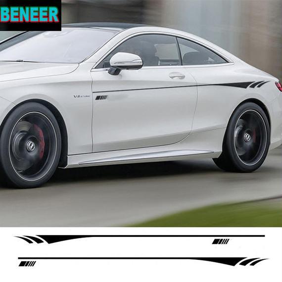 ベンツ ステッカー ボディ サイド 2点セット Mercedes benz A B C E h00526