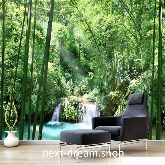 3D 壁紙 1ピース 1㎡ 自然風景 森林 滝 インテリア 装飾 寝室 リビング h02144