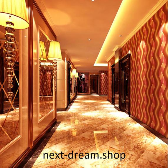3D 壁紙 53×1000㎝ ストライプ 波線模様 PVC 防水 カビ対策 おしゃれクロス インテリア 装飾 寝室 リビング h01845
