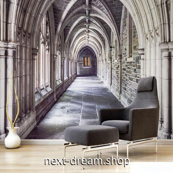 3D 壁紙 1ピース 1㎡ ヨーロッパの建物 立体空間 DIY リフォーム インテリア 部屋 寝室 防湿 防音 h03280