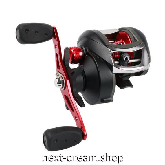 新品 ベイトリール 釣り道具 お洒落 フィッシング  黒×赤 ギア比 8,1:1 右ハンドル 左ハンドル m01968