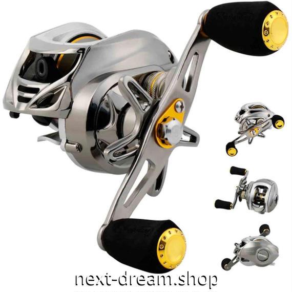 新品 ベイトリール 釣り道具 お洒落 海水 淡水 フィッシング 12BB  黒×シルバー 右ハンドル 左ハンドル m01961