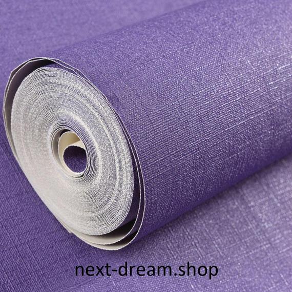 3D 壁紙 53×1000㎝ 布テクスチャー 紫 PVC 防水 カビ対策 おしゃれクロス インテリア 装飾 寝室 リビング h01838