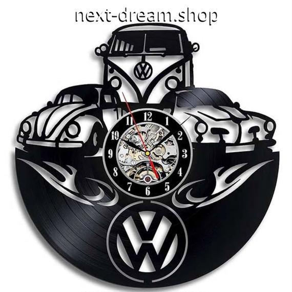新品送料込★ 時計 壁掛け ワーゲン VW アウディ Audi 黒  DIY お洒落 面白 輸入雑貨 インテリア 高性能  m01559