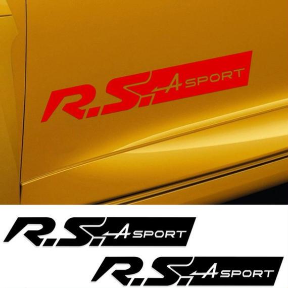 ルノー クリオ ステッカー ドアサイド R.Sスポーツ ロゴ デカール ルノースポーツ Clio RS h00185