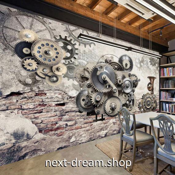 3D 壁紙 1ピース 1㎡ ウォールアート 機械の歯車 DIY リフォーム インテリア 部屋 寝室 防湿 防音 h03312