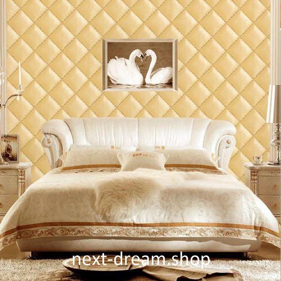 3D 壁紙 53×1000㎝ 北欧モダン キルティング PVC 防水 カビ対策 おしゃれクロス インテリア 装飾 寝室 リビング h01827