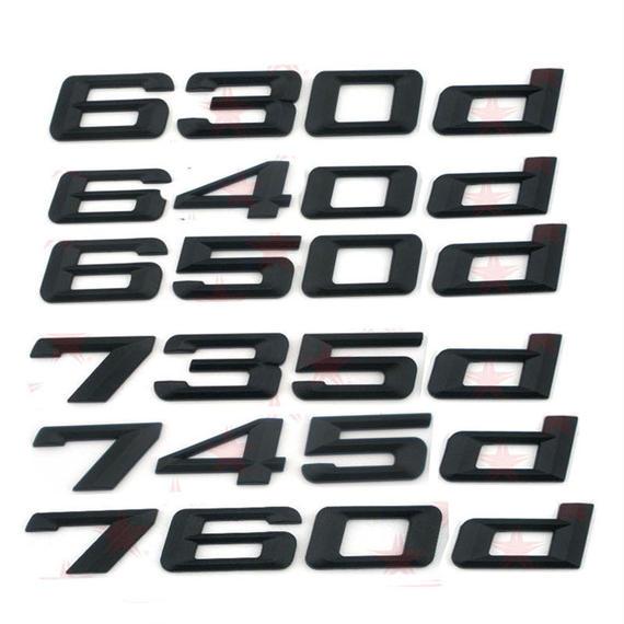 BMW エンブレム リア ステッカー ブラック 630d 640d 650d 735d 745d 760d 420d 428d  430d 440d h00264