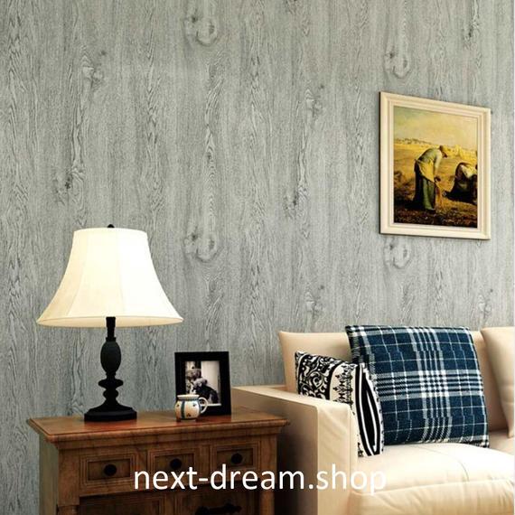 3D 壁紙 53×1000㎝ 木目 ウッドボード DIY 不織布 カビ対策 防湿 防水 吸音 インテリア 寝室 リビング h02084