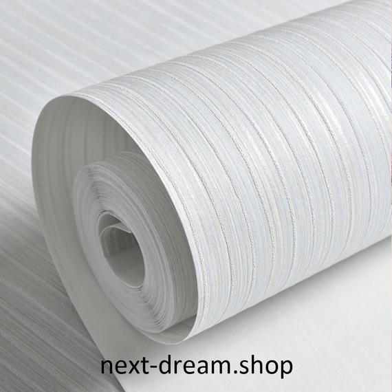 3D 壁紙 53×1000㎝ ストライプ リネン質感 DIY 不織布 カビ対策 防湿 防水 吸音 インテリア 寝室 リビング h02092