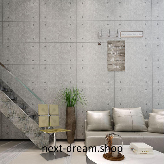 3D 壁紙 53×1000㎝ コンクリートデザイン PVC 防水 カビ対策 おしゃれクロス インテリア 装飾 寝室 リビング h01830