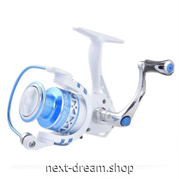 新品 リール 釣り道具 フィッシング 10BBs スピニング 低音 高性能ベアリング 白×青 2000 / 3000 /4000 / 5000番 m01912