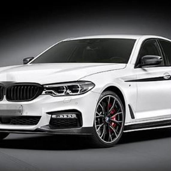 BMW ステッカー Mパフォーマンス サイドスカート ストライプ ビニールデカール 5シリーズG30用 h00048