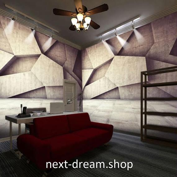 3D 壁紙 1ピース 1㎡ 立体空間 石 幾何学模様 DIY リフォーム インテリア 部屋 寝室 防湿 防音 h03232