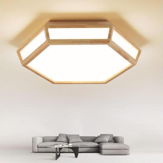 木製 LEDシーリングライト 調光 リモコン付★天井照明 インテリア照明 和風 和室 洋風 北欧 ナチュラル 照明器具 m00019