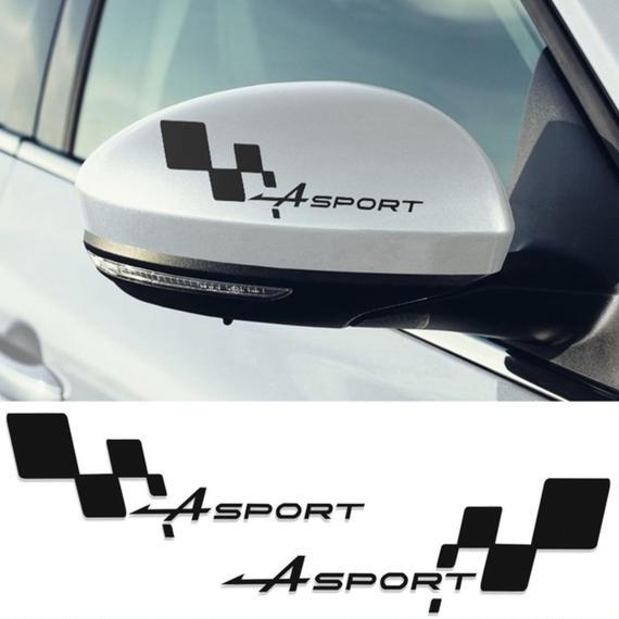 ルノー クリオ ステッカー SPORT Flag ミラー デカール Clio R.S Twingo Megane h00188