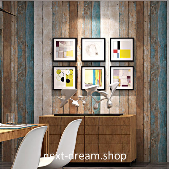 3D 壁紙 53×1000㎝ 北欧レトロ 木造 ウッドボード PVC 防水 カビ対策 おしゃれクロス インテリア 装飾 寝室 リビング h01846