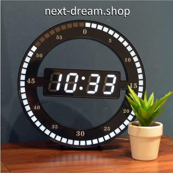 新品送料込★ 時計 壁掛け LED デジタル  DIY お洒落 面白 輸入雑貨 インテリア 高性能  m01547