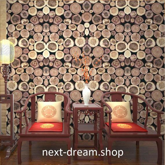 3D 壁紙 53×1000㎝ 北欧 レトロ 木 ウッド PVC 防水 カビ対策 おしゃれクロス インテリア 装飾 寝室 リビング h01825
