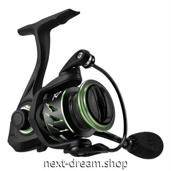 新品 スピニングリール 釣り道具 フィッシング 超軽量 高性能ベアリング 黒×緑 1000 / 2000 / 3000 / 4000番 m01938
