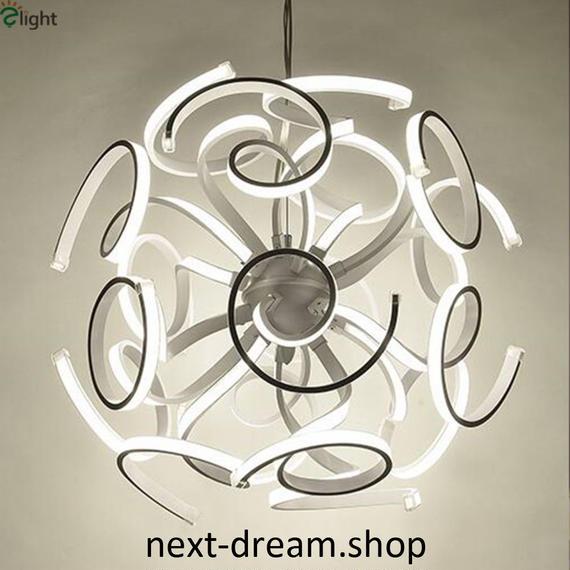 ペンダントライト 照明×18 LED ホワイトボディ 球状 調光可能 ダイニング リビング キッチン 寝室 北欧モダン h01614