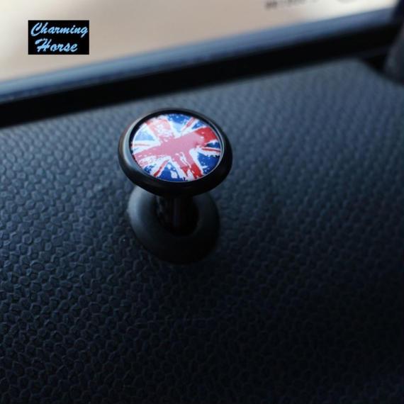ミニクーパー ドアロック ボタン ピン F54 F55 F56 レーシング チェック ユニオンジャック h00129