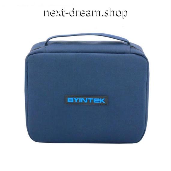 新品送料込   プロジェクターケース 収納ケース 布カバン ポータブル 持ち運び ブルー おしゃれ ミニ   m00521
