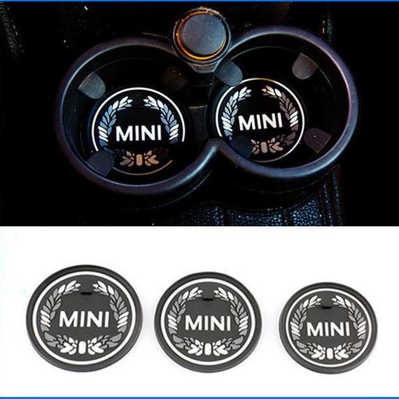 ミニクーパー コースター 2個入 ブラック MINI カップパッド h00446