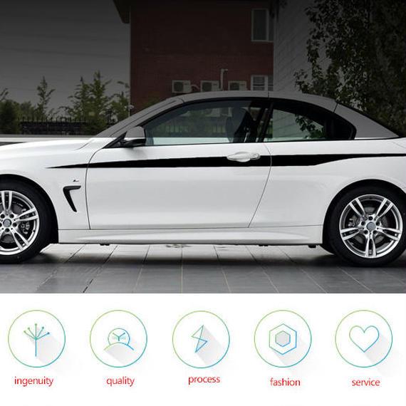 BMW ステッカー カースタイリング F32 F33 420i 428i 435i サイドドア ストライプ h00038
