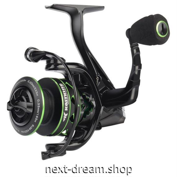 新品 リール 釣り道具 フィッシング 海水 スピニング 低音 高性能ベアリング 黒×緑 1000 / 2000 /4000番 m01913