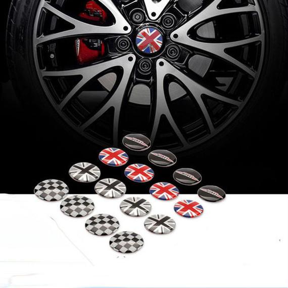 ミニクーパー タイヤ バッジ 4個入 Mini Cooper S R55 R56 R60  ステッカー h00444