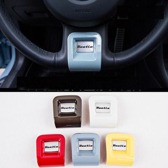 ワーゲン ビートル ステアリングバッジ ハンドル カバー Volkswagen Beetle カーインテリア h00474