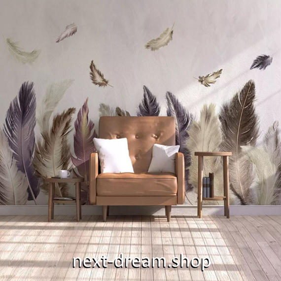 3D 壁紙 1ピース 1㎡ 羽根 ヨーロッパモダン DIY リフォーム インテリア 部屋 寝室 防湿 防音 h03244
