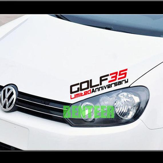 ワーゲン ステッカー デカール ボディ ヘッドライト Volkswagen GOLF35 00503
