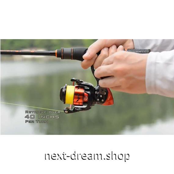 新品 リール 釣り道具 フィッシング 7.2:1 ギア スピニング 低音 高性能ベアリング 黒×赤 2000 / 3000番 m01907