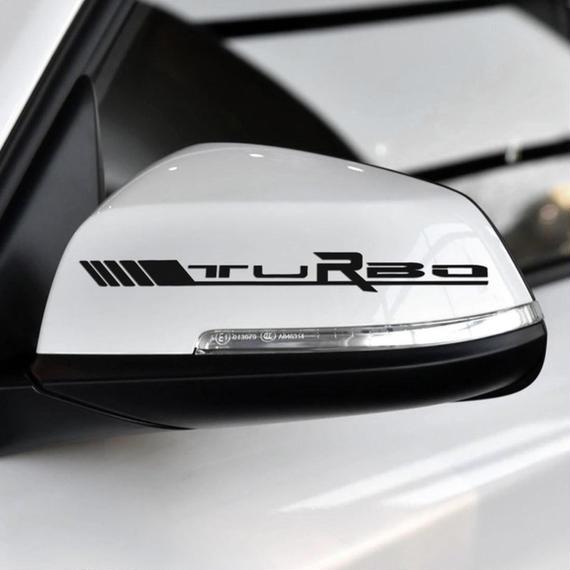 メルセデスベンツ ステッカー サイドミラー デカール TURBOロゴ W204 W117 W176 W205 C63 A45 CLA45 C117 h00192